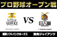 2017年プロ野球オープン戦 『福岡ソフトバンクホークスー読売ジャイアンツ』